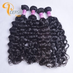 Poersh Hair 8A Unprocessed Raw Virgin Hair Top Quality 1B Natural Black Color Italy Curly 10Pcs/Lot Human Hair Weft
