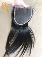 8A Top Quality 1B Natural Black Color Straight Hair 100% Unprocessed Raw Virgin Human Hair Free Part 5×5 Lace Closure