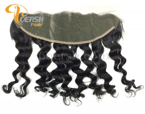 8A Top Quality 1B Natural Black Color Big Deep Wave 100% Unprocessed Raw Virgin Human Hair 13×4 Lace Frontal