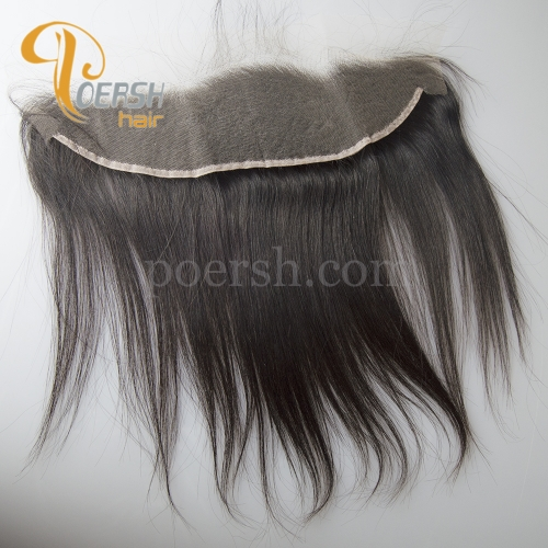 8A Top Quality 1B Natural Color Straight Hair 100% Unprocessed Virgin Human Hair 13×4  NS Thinnest Swiss Lace Frontal